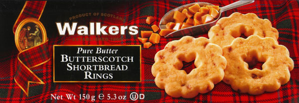 Walkers Kekse Butterscotch Shortbread Rings