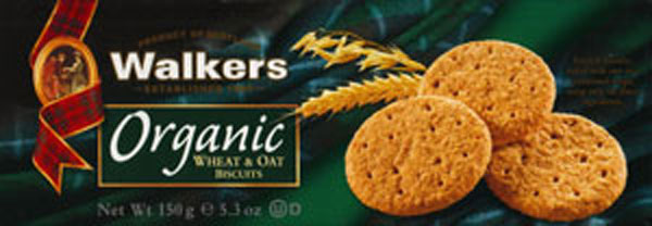 Walkers Kekse Organic Wheat & Oat Bisquits