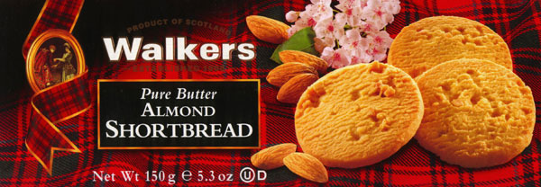 Walkers Kekse Almond Shortbread