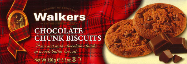 Walkers Kekse Chocolate Chunk Biscuits