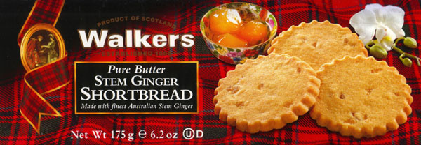 Walkers Kekse Stem Ginger Shortbread