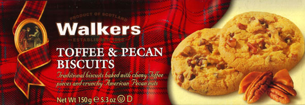 Walkers Kekse Toffee & Pecan Biscuits