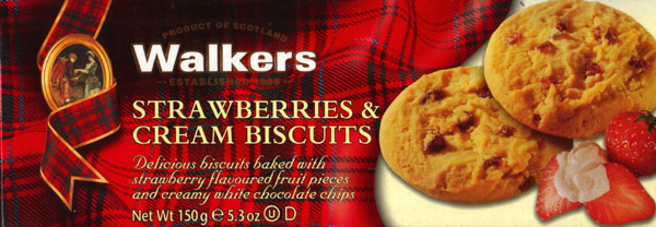 Walkers Kekse Strawberry & Cream Biscuits