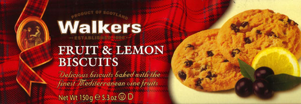 Walkers Kekse Fruit & Lemon Biscuits