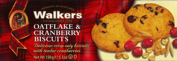 Walkers Kekse Oatflake & Cranberry Biscuits